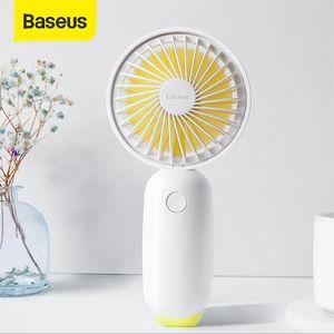 Baseus Protable Handheld Fan 3-Speed Mini USB Rechargeable Fan with 1500mAh Powerbank Battery Quiet Desktop Personal Cooling