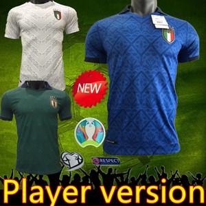 2021 игрок версия ITALY футбол Джерси дома Барелла SENSI INSIGNE ITALIA Away White Третьих Кьеллини Белотти~d BERNARDESCHI майки