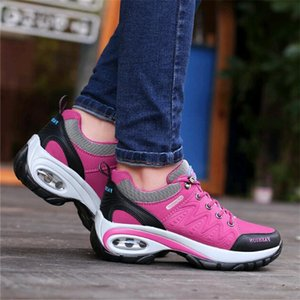 Winter Autumn Female Work Shoes Sneakers Women Outdoor Non-slip Wear-resistant Travel Shoes Casual Air Cushion Cotton Shoe