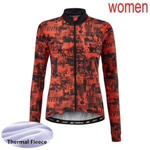 2020 Team MORVELO Winter Cycling Jersey Women thermal fleece Long Sleeve bike shirt MTB Bicycle Clothes Sports Uniform Y20090201