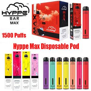 Hyppe Bar Max Einwegvorrichtung Pod Kit 650mAh Batterie 1500 Puff 5ml Pre-Filled Vape Pods Pen-Patronen VS Bang XL Xtra Plus-Flow-XXL