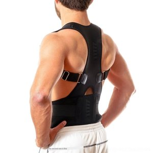MLYQT correcti adulto Magnetic órtese moldar o corpo Ij31X posição posição adulto moldar sentado cinto de correção de postura corporal volta Magnetic