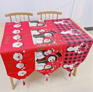 Christmas Table Cloth Santa Claus Table Cushion Banquet Home Decoration Cover Embroidered Xmas Table Decoration Covers IIA479