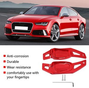 Steering Wheel Paddle Car Steering Wheel Shift Paddle Shifter for Audi A5 S 3 S5 S6 SQ5 RS3 RS6 RS7 (Red)