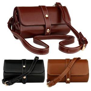 Fashion Retro Leather Crossbody Bags Women Bucket Shoulder Bag Soft Surface Shoulder Pouch Female Ladies Daily Trendy Purse