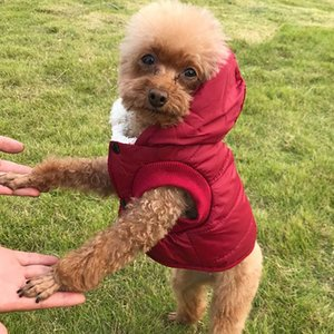 Pet dog clothes Fleece And Cotton Lining Extra Warm Dog Hoodie In Winter Small Dog Jacket Puppy Coats With Hooded WX9-1792