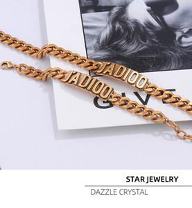 D carta temperamento cadeia gargantilha internet elegante estrela de bronze pulseira feminina vermelho mesmo colar