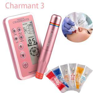 Dermografo Digital Шарман Перманентный макияж машина комплект Microblading ручка для бровей губ вышивки Tatoo с картриджем иглы