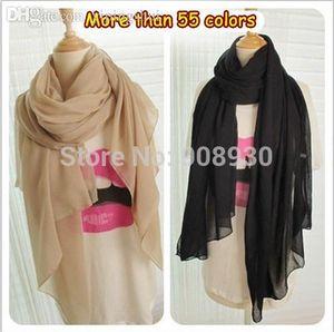 (Al por mayor de 12pieces / lot) Mujeres Maxi Llanura Hijab / bufanda / mantón / bufanda musulmán Mujer sólido diseño Pañuelos Accesorios Envío gratis Mayorista