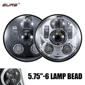 1pcs 5.75inch LED Fog Light 60W 6LED Round Motorcycle LED Headlight Accessories Driving Fog Spot Head Light Spotlight Universal