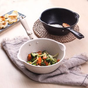 Cocina Pot 20CM Maifan Piedra Wok antiadherente sartén sartenes sopa de olla sartén multiusos de la cocina de uso general para Gas