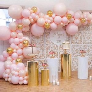 5 Size in Set Wedding Favors Display Table Cylinder Pillar Stand Gold Mirror Cake Stand Tray Shopping Mall flower Dessert Crafts Metal Rack