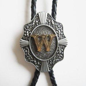 Distribute Retail Bolo Tie Western Original Letter Bolo Tie Free Shipping In Stock Letter U V W X Y Z