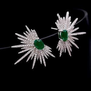 European Hot-Selling-Marke S925 silber Nadel glänzend Zirkon Ohrringe Schmuck Mode Luxus-Sterne-Ohrringe personalisierte Ohrringe Geschenk für Frauen