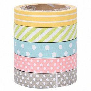 5 x Band Adhesive sticker masking tape Sticky paper Decorative scrapbooking accessories for DIY scrapbook decoration Manuals w 2016 21ZB#