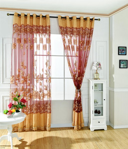120*250cm living room curtains Simple and Modern Beautiful and Romantic Jacquard Burnt Half-shade Easy To Install Rod Pocket Curtain