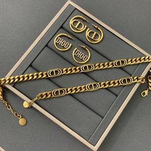 D casa 2020 Nuovo CD collana lettera linea celebrità industria pesante delle donne braccialetto orecchini versione alta