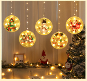 Christmas Decorations Party Light LED hanging lights Creative Window Glass Hanging Lights Party outdoor indoor Home Decoration CD03