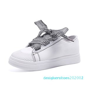 ladies Bow shoes platform shoes sneakers women spring for women flats lace up breathable sport casual 2019 d02