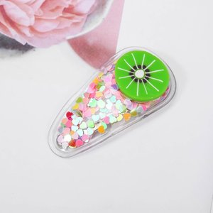F33 Kore yeni renk bataklık Fruit headdress şeffaf klip çocuk meyve saç tokası PVC yan klip bebek BB headdress
