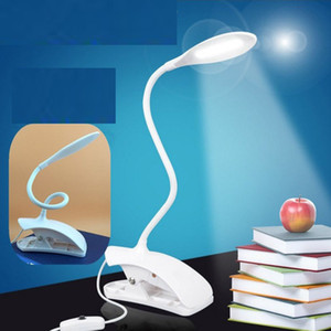 Wholesale Desk Lamp Rechargeable Led Table Lamps 14 LED Student Lamp Led Light with Clip Bed Reading Book Light Touch Switch Adjustable Lamp