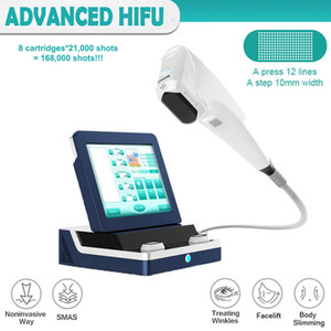 기계 8 catridges HIFU 피부 리프팅 기계 168,000 샷 무료 배송 조각 9D HIFU 슬리밍 기계 HIFU 본체