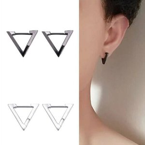 Good Quality Gothic Triangle Earrings Unisex Punk Rock Copper Men Women Ear Stud Earrings Pierced Push-Back Ear Plug Buckle Jewelry