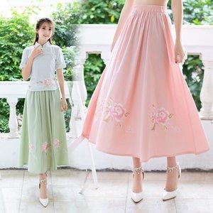 4182 # этнических женщин стиль одежды Тан костюм Китайская Республика Китай случайные платье улучшилось юбка национального костюма древнего формального оденьте
