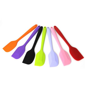 Kitchen Silicone Cream Butter Cake Spatula Baking Butter Scrapers Mixing Batter Scraper Brush Butter Mixer Tool free fast shipping DHF3337