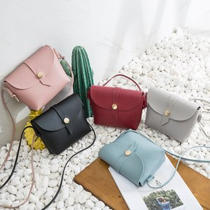 2020 Hot Selling Solid Color Shoulder Bag Square Sling Bag Versatile Mini Mobile Phone Sweet Japanese And Korean-Style