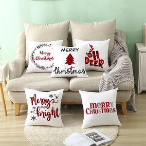 45x45cm Multi Styles Cartoon Christmas Pillowcase Christmas Decor for Home Merry Ornament Pillow cases Xmas Gifts lxj190