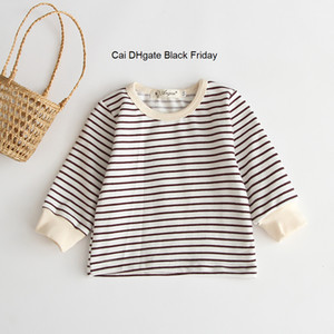 New 2019 Kids T-shirt Casual Toddler Striped Shirts Baby Girls Boys Clothes Children's T Shirt Long Sleeve Girls T-shirts Tops