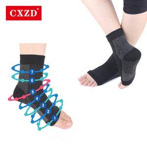 CXZD القدم ملاك مكافحة ضغط التعب القدم كم دعم جوارب للرجال تستجمع قواها سوك دروبشيب