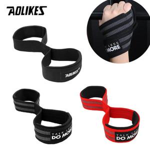 AOLIKES 2PCS professionnel Wrist Support Gym Haltérophilie Musculation Gants de levage Bar Grip