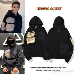 Nuevo 20S TRAVIS SCOTT TS CO CACTUS Jack para hombres y mujeres Cactus Bordado Micro Etiqueta Multi Pocket Sweater Mens Designer Sudaderas con capucha