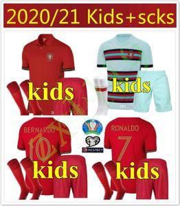 l2020 Portuga kit national enfants enfants équipe RONALDO JOÃO FÉLIX jeunes EDER QUARESMA 20 21 Maillot De Futol Shirt Uniforme Thaïlande Football Jerse