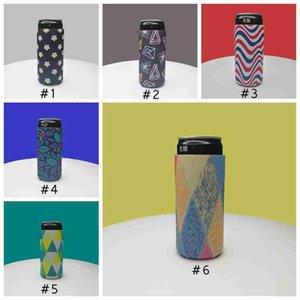 330ml Can Cooler Schlank Can Bier Insulators Neopren Getränkekühler zusammenklappbare Cola Flasche Bier Koozies Blumendruck kann Kühlen CYZ2637
