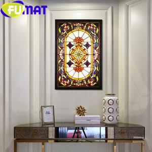Padrão Fumat Tiffany Estilo Wisteria vitral colorido teto Pane Lâmpadas Wall Light Home Decor Art Lighting Hanging Decor