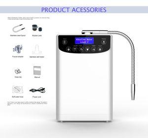ajuste de agua LED de agua ionizador purificador Máquina PH4.5-10.5 ácido alcalino calidad de Hight T200810 agua Hidrógeno