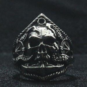 Teschio Anello unisex dell'acciaio inossidabile 316L gotici punk Octopus Anchor pirata più nuovi