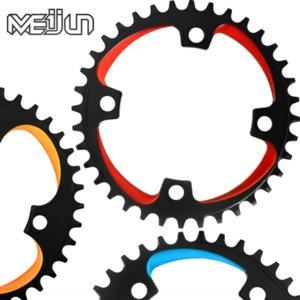 7ORUW VTT creux bicyclette dentée intégré unique bicyclette de vitesse 32T 34T 36T 38T disque denté seul disque modifié