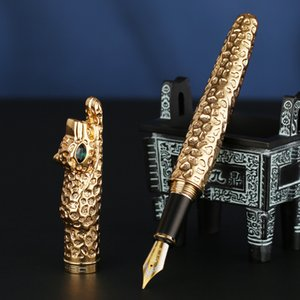 Jinhao nova fonte de luxo caneta leopardo tinta caneta caneta canetas coleção de luxo escritório escritório presente 2 cores