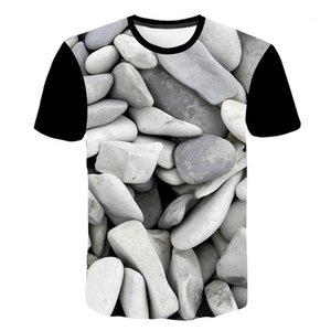 Longueur régulière Tops 3D Creative Hommes T-shirts à manches courtes O cou Designer Homme T-shirts Casual Man