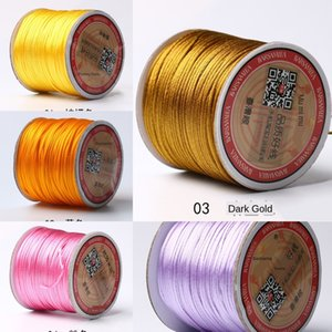 Hiçbir Çinli düğüm çelik Çelik. Koreli ipek dokuma Jade Yuelao tel 7 asılı halat tel halat kırmızı Çinli v2U7M knot