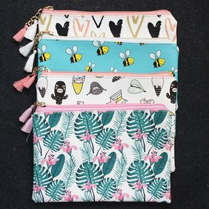 M266 Cartoon Women Cloth Bag Fashion Bee Cat Cactus Love Design Handbag Student Girl Women Bag Gift Wholesale