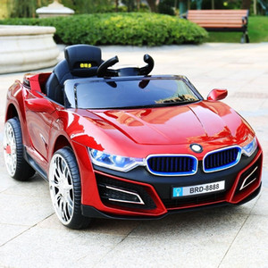 Children's electric car four-wheeled child toy car can take people with swing baby remote control baby stroller