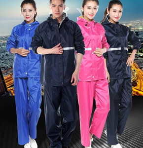 Motorcycle Thicken Adult Fission Raincoat Suit Multi Reflect Light Lightweight Double Layer Raincoat Rain Pants Household Sundries HA1174