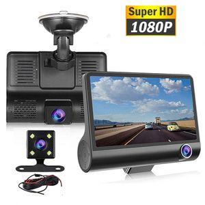 Voiture DVR Dual Caméra 3 lentille 4,0 pouces HD 1080p 3 voies avec références arrière caméras enregistreur vidéo