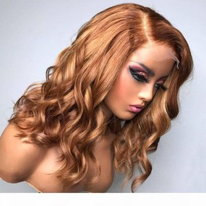 Brizlian Glueless 13x6 Lace Front Human Hair Wigs with Baby Hair Loose Wave Blonde Full Lace Wig 360 Lace Frontal Wig for Women