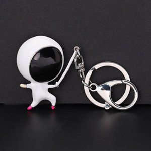 Creative Sports Fencing Villain Keychain Stereo Fencer Club Memorial Gift Car Keychain